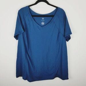 LIVI active wear workout Lane Bryant vneck shirt